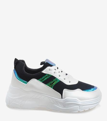 3badee4b Czarne modne obuwie sportowe LL1743 | Obuwie Gemre online