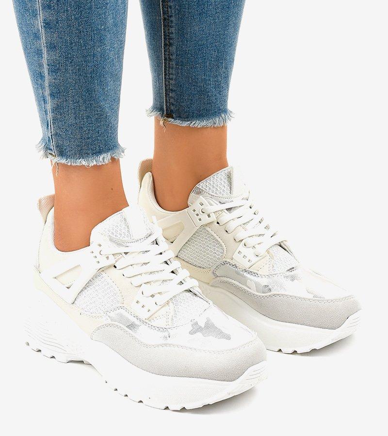 Białe modne damskie obuwie sportowe C2