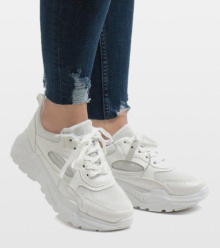 1cbb2840 Białe modne obuwie sportowe PP-37 | Obuwie Gemre online