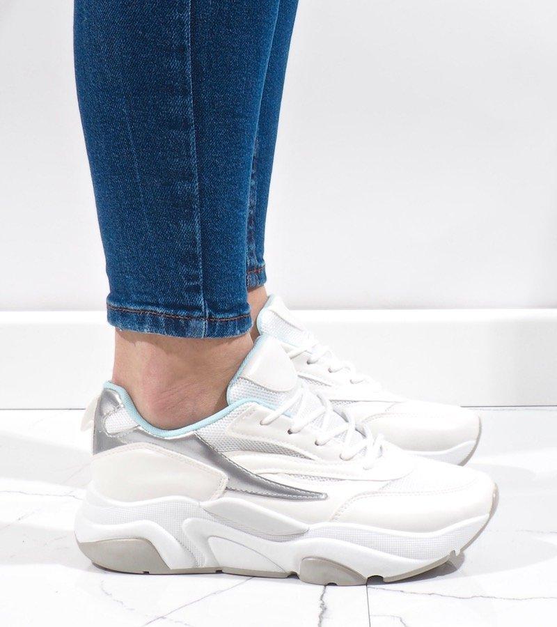 Białe sneakersy sportowe SX001 6