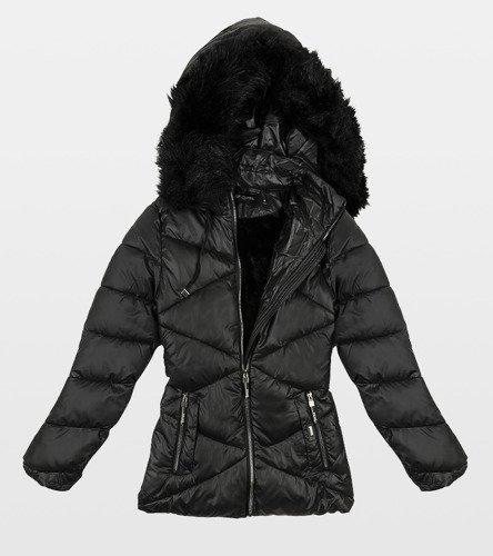 kurtka ocieplana damska czarna