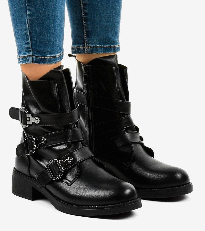 buty botki damskie czarne