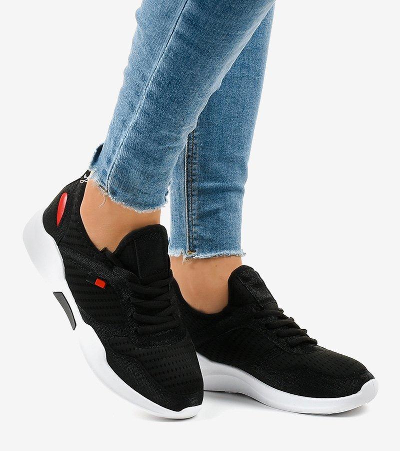 Czarne damskie obuwie sportowe SH809