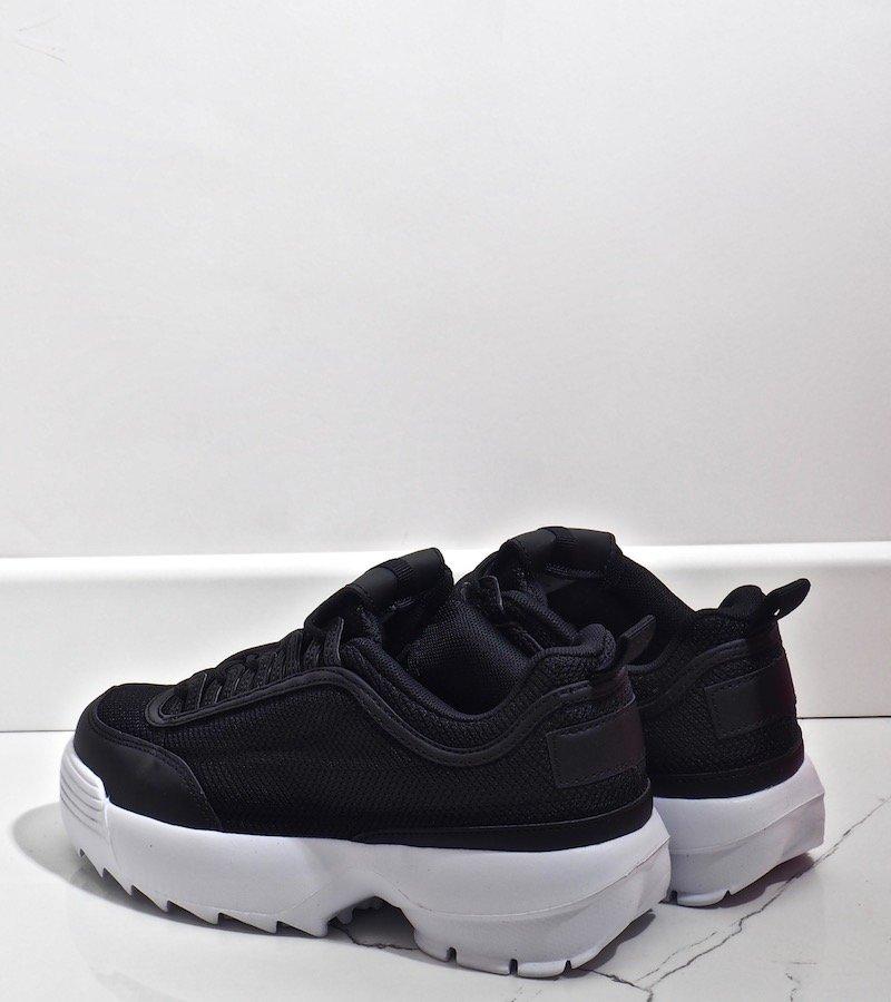 Czarne modne obuwie sportowe DSC82 1