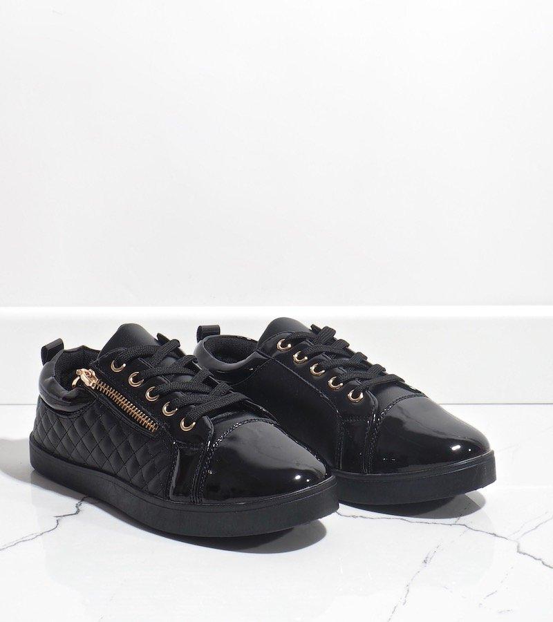 Obuwie Damskie Sneakers Lakierowane R19 Czarny rozmiar 38 Ceny i opinie na Skapiec.pl