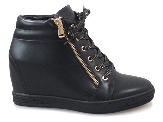 11ac6ef1387ac3 ... Czarne sneakersy ze złotym suwakiem TL-22 Kliknij, aby powiększyć ...