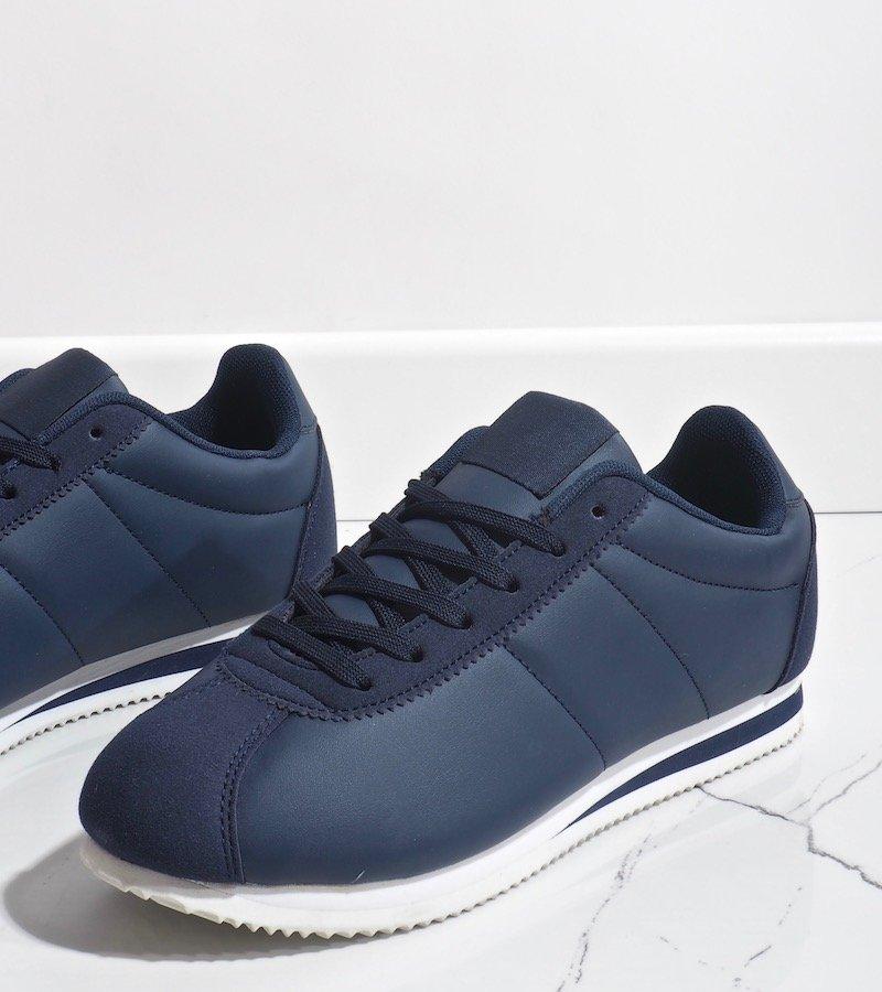 Granatowe modne damskie obuwie sportowe 7 7925B