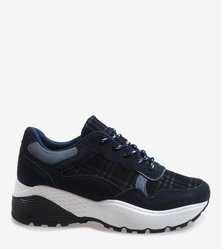 46f28bc4 ... Granatowe modne obuwie sportowe 61012 Kliknij, aby powiększyć ...
