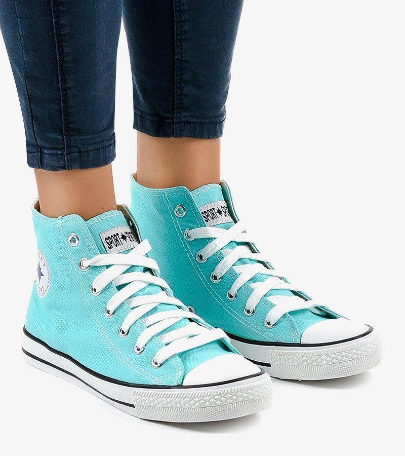 Wysokie sneakersy miętowy