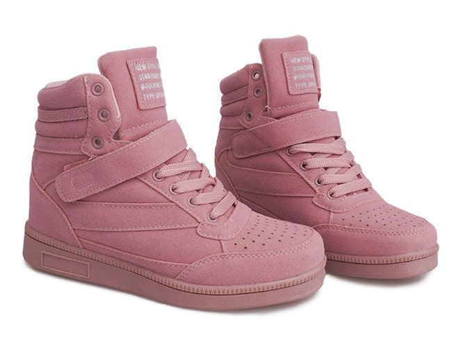Sneakersy Na Koturnie XW33268 Różowy różowe   Sneakers, Buty