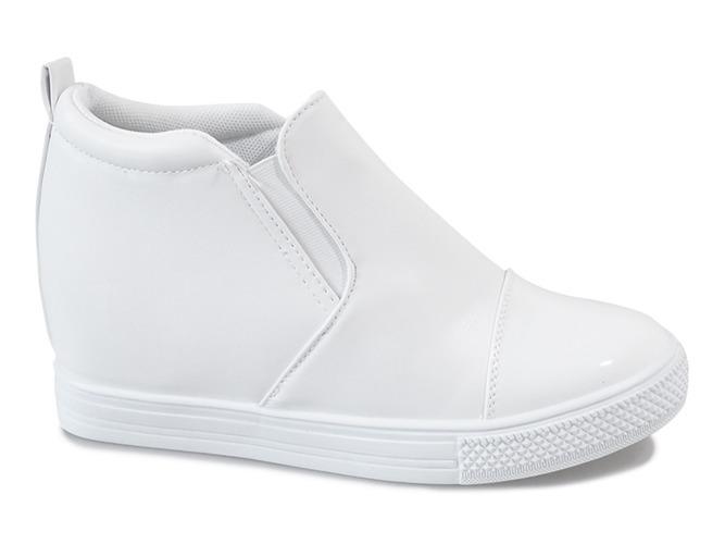 6b0e06a22 Kliknij, aby powiększyć · Białe sneakersy na koturnie DD409-2