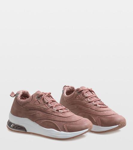 Różowe modne obuwie sportowe LL1718